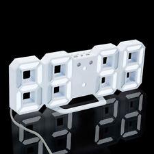 Modern Digital LED Table Desk Night Wall Clock Alarm Watch 24/12 Hours Display
