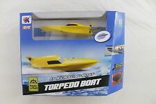 Yellow Electric Remote Control Racing Boat