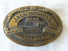 JACK DANIELS OLD NO. 7 WHISKEY MADE WITH OUR OWN SPRING WATER BELT BUCKLE