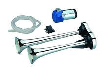 Kompressor Doppelhorn 35/31cm 12 Volt Hupe Fanfare Sirene Horn Signalhorn Sirene