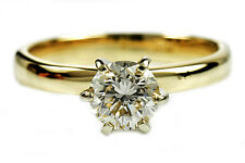 Women's GIA Spec Graded .58 ct Diamond Solitaire Engagement Ring 14k Solid Gold