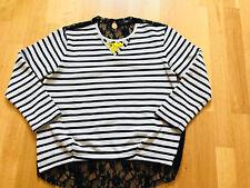 Orig STEFFEN SCHRAUT Shirt Bluse d.G. 36,38,40 Rücken Spitze NP 299,-€ Oversized