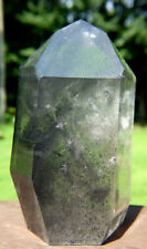 Large Black Phantom Quartz Channeling Crystal ~ Polished