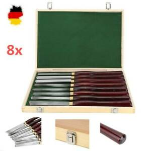 Drechselmesser 8x HSS Drechseleisen Drechsel Werkzeug Beitel Drechselban 55049