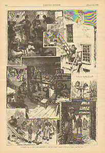 New York City, Tenement Life, Sketches & Text, Vintage 1879 Antique Art, Print.