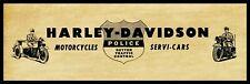 "1945 Harley Davidson Motorcycles New Metal Sign: 6"" x 18"" Long  Servi Car Police"