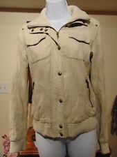 Guess Los Angeles Women's Cream Fax Leather Jacket XS