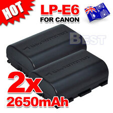 2x LP-E6 Battery for Canon EOS 5D Mark III II 6D 60D 7D Mark II 70D LPE6 2650mah