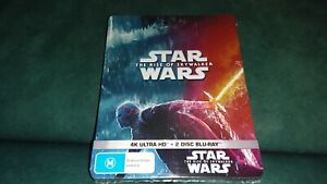 NEW STAR WARS RISE OF SKYWALKER LIMITED EDITION STEELBOOK 4K ULTRA HD