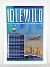 "JA041 IDELWILD INTERNATIONAL AIRPORT POSTER 14"" X 20""  NEW YORK CITY"