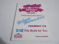 #MISC-2838 vintage car racing program - 1988 BAYLANDS RACEWAY