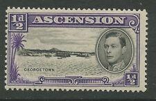 Ascension Island SG38 1938 ½ d black & violet P13.5