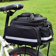 Gepäckträger Wasserdicht Tasche für Fahrrad Fahrradtasche Gepäcktasche schwarz
