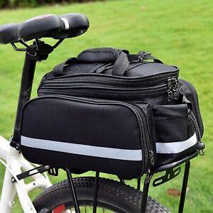 Doppel Gepäckträger Tasche Double für Fahrrad Fahrradtasche Gepäcktasche schwarz