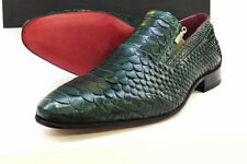 New Zilli Genuine Python Leather Snakeskin Mens Luxury Loafer Slipon Dress Shoes