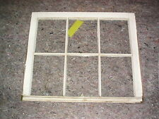 One Top of 2 piece Old vintage 6 pane cracked 1960 white window T6-W-29 3/4