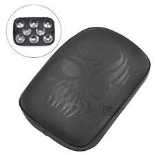 Motorcycle Rectangular Pad Seat 8 Suction Cup For Harley Chopper Cruiser Custom
