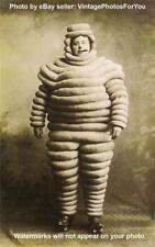 Vintage/Old Early 1900 Weird/Strange/Odd Michelin Man Cigar/Skate Costume Photo
