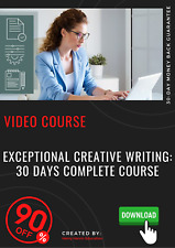 EXCEPTIONAL Creative Writing: 30 Days COMPLETE Course 2020 video course tutorial