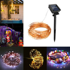 10M Outdoor 100LED Solar Power Rope String  Xmas Garden Wedding Fairy Light Tube