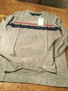 Jack & Jones boys long sleeved t shirt  age 9-12 only(navy or grey)