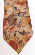 Burton floral tie vintage 1980s British made flower power botany florid menswear