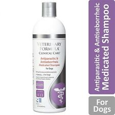 MEDICATED DOG SHAMPOO PET ALLERGIES Anti Parasite Itching Skin Animal Health Sup