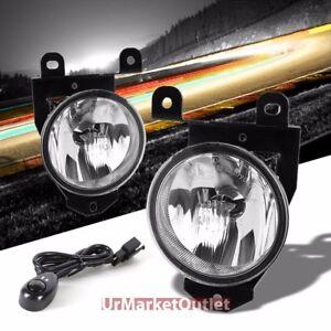 Clear Lens Chrome Housing Fog Light/Lamp For GMC 01-06 Sierra 1500 Yukon/XL 1500