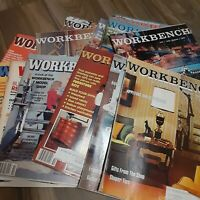 Workbench Vintage Lot of Magazines Back Issues Lot of 19 Wood Working Magazines