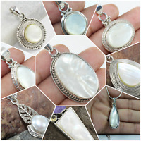 MOTHER OF PEARL HANDMADE PENDANT (925 STERLING SILVER ONLY) FOR INDEPENDENCE DAY