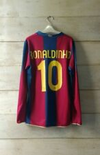 Authentic BARCELONA 2007 home jersey camiseta maglia Ronladinho 10 *M*