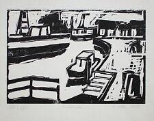 Manfred Zoller - Stadthafen - Holzschnitt - 1986 - 21/25
