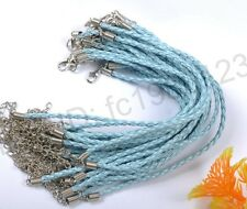20,50,100Pcs wholesale 3MM Leather Braided Bracelets Wristband Cool Hot 240MM!!