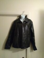 Vintage Route 66 Men's Distressed Leather Jacket Size M