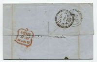 1850 stampless Carthagena Colombia to UK transatlantic [H.441]