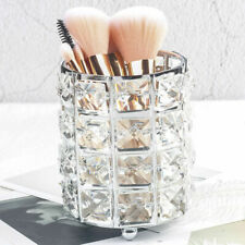 Crystal Organizer Makeup Storage Brush Holder Cosmetic Box Pen Metal Case Tube