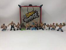 Wwe Wwf Mini Rumblers Figures Rampage Ring Wrestlers Toys Lot Of 11 Figures