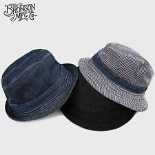 2019 Bronson Vintage Bucket Hat Summer Outdoor Retro Men's Denim Sun Felt Cap