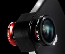 Olloclip Single Lens System 3-In-1 Lens Fisheye Wide-Angle, Macro -iPhone 5 -Red