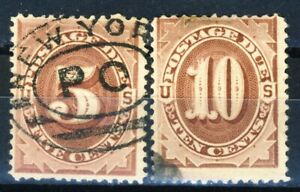 United States 2 very old postage due stamps in used condition