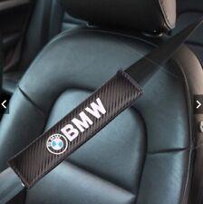 2 Copri Cintura Sicurezza Logo Fregio BMW Serie 1 2 3 4 5 6 7 X Carbonio