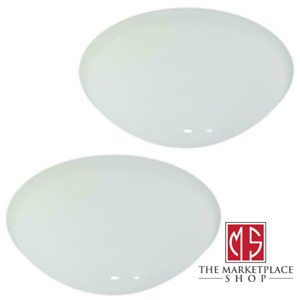 White Ceiling Fan Light Cover Replacement Glass Shade Bowl Globe Frosted Paint