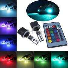 2pcs 880 885 893 12-SMD RGB 3K 8K 10K LED Fog Lights Driving Bulbs + Controller