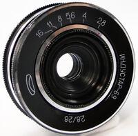 ⭐MINT⭐ INDUSTAR-69 28mm f/2.8 USSR Wide Angle Pancake Lens M39 MMZ-LOMO #73