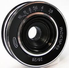 Virtually NEW! INDUSTAR-69 28mm f/2.8 USSR Wide Angle Pancake Lens M39 LOMO #46