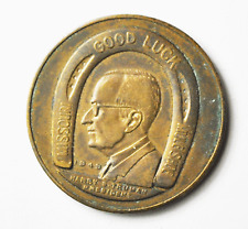 Harry Truman Copper Good Luck Mule Shoe Foundation Medal 29mm