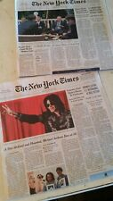 Michael Jackson Death NY New York Times newspaper June 26, 2009 6/26/09 + BONUS