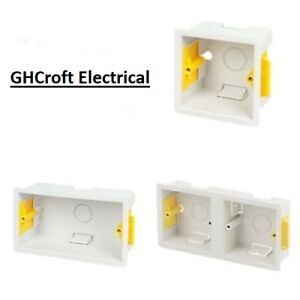 Dry Lining Plasterboard Back Boxes 1G / 2G / Dual - 35mm / 47mm - MULTI BUY