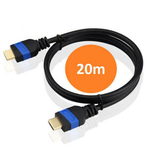 Antiference 20m Gold HDMI Black Cable ETHERNET/HD/DVD/LED/PS3/XBOX