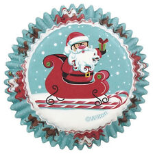Santa Christmas Sweet Holiday Standard Baking Cup 75 ct from Wilton 2626 - NEW